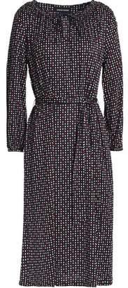 Vanessa Seward Belted Printed Silk-Jersey Dress