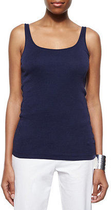 Eileen Fisher Organic Cotton Slim Tank $58 thestylecure.com