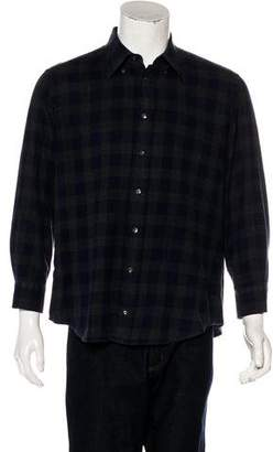 Luciano Barbera Plaid Flannel Button-Up Shirt