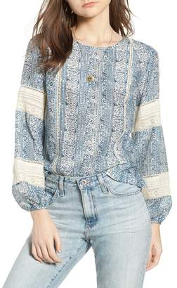 Scotch & Soda Pintuck Lace Blouse