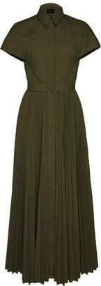 Brandon Maxwell Exclusive Pleated Poplin Shirt Dress Size: 0