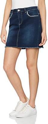 Only Women's Onlphoebe Blue Raw DNM Box PIM Skirt,(Manufacturer Size: 28)