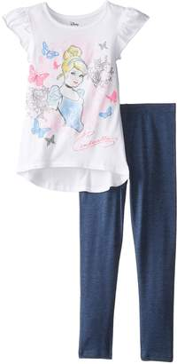 Disney Little Girls' Cinderella Top and Legging Set