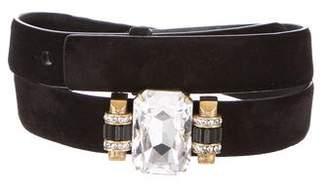 Ralph Lauren Embellished Suede Belt