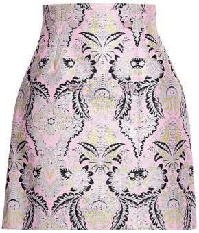 MSGM Metallic Jacquard Mini Skirt