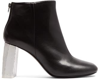 Acne Studios Claudine contrast-heel leather ankle boots