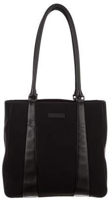 Tumi Woven Leather-Trimmed Tote Black Woven Leather-Trimmed Tote
