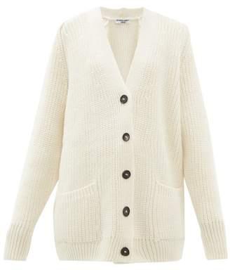 Katharine Hamnett Bennie Oversized Wool Blend Cardigan - Womens - White