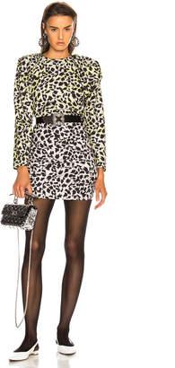 Carmen March CARMEN MARCH Leopard Dress in Grey & Green | FWRD