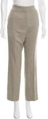 Oscar de la Renta Cashmere-Blend High-Rise Pants