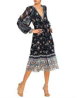 Ulla Johnson Floral Dotted Print Romilly L/S Maxi Dress