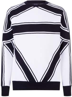 Balmain Asymmetric Stripe Sweatshirt