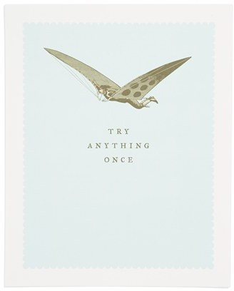 BREATHLESS PAPER CO 'Try Anything Once' Print