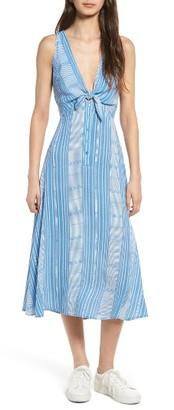 Women's Lush Tie Front Midi Dress $55 thestylecure.com