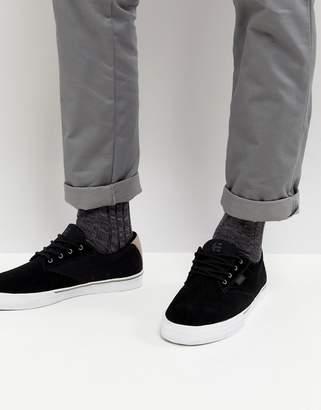 Etnies Jameson Vulc Sneaker In Black