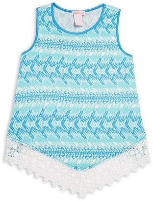 Design History Girl's Lace Accented Tank Top