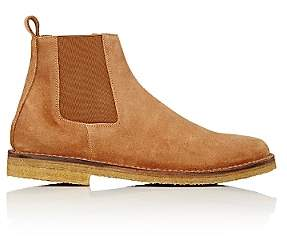 Barneys New York MEN'S CREPE-SOLE CHELSEA BOOTS-BROWN SIZE 8.5 M