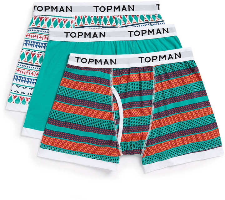 Topman Pattern 3 Pack Underwear