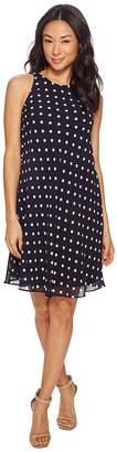 Lauren Ralph Lauren Petite Geminah Classy Dot Georgette Dress Women's Dress