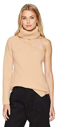 Baja East Women's Cut Out Turtleneck