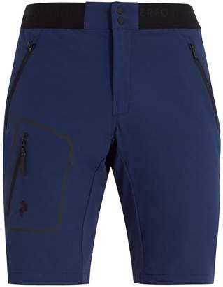 Peak Performance Mid-rise logo-jacquard shorts