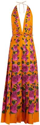Gucci Le Jardin rose-print silk gown