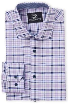 Work Rest Karma 4-Way Stretch Plaid Dress Shirt