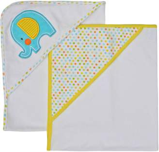 Neat Solutions Applique Print Interlock Knit Terry Hooded Towel Set