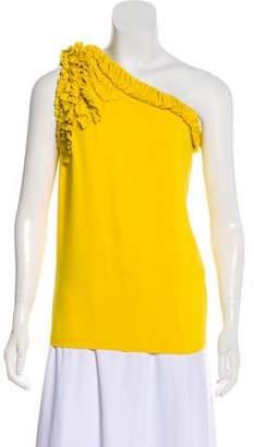 Robert Rodriguez One-Shoulder Silk Top