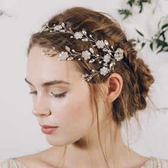 Carlisle Debbie Trailing Flower Wedding Hairvine Blanche