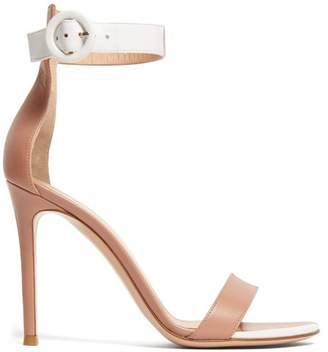 Gianvito Rossi Portofino 100 Leather Sandals - Womens - Nude White