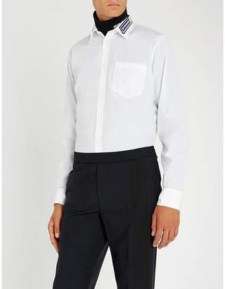 Givenchy Rubber-appliquéd regular-fit cotton-poplin shirt