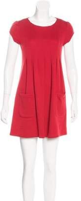 Alice + Olivia Wool Pleated Dress