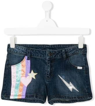 Little Marc Jacobs embroidered denim shorts