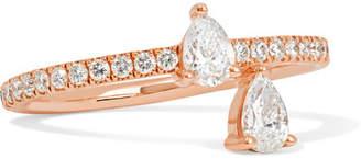 Anita Ko Princess 18-karat Rose Gold Diamond Ring