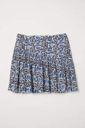 H&M Crinkled Skirt - Blue