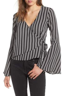 Chloé AND KATIE Bell Sleeve Wrap Top
