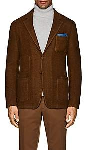 Boglioli Men's Galleria Herringbone Wool-Cashmere Jacket-Brown