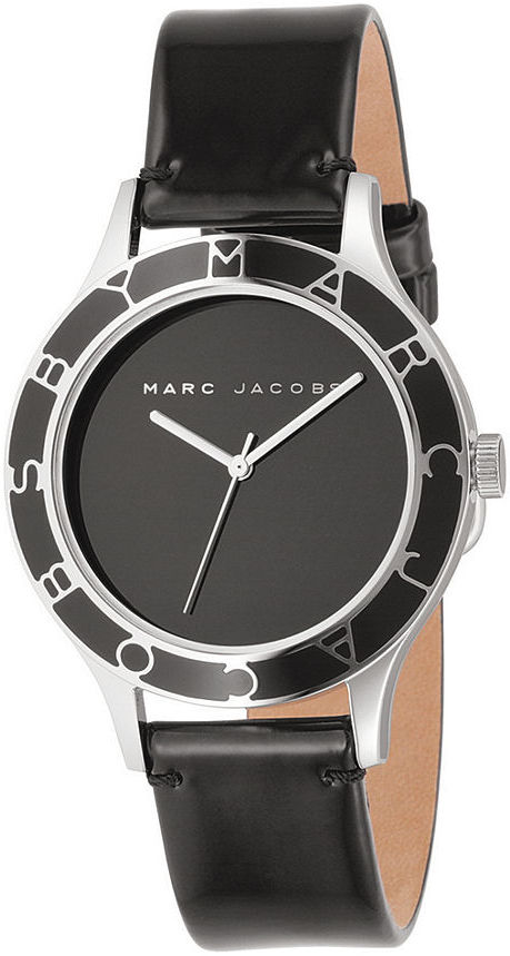 Marc by Marc Jacobs Watch, Women's Round Ceramic Dial Patent Leather Strap MBM1087