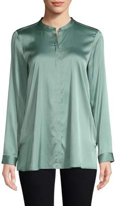 Eileen Fisher Mandarin Collar Shirt