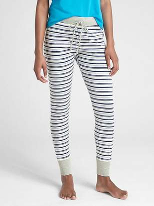 Gap Stripe Ribbed Drawstring Leggings