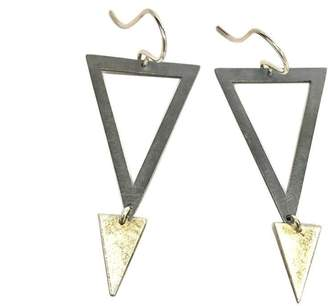 Zina Kao Silver Triangle Earrings