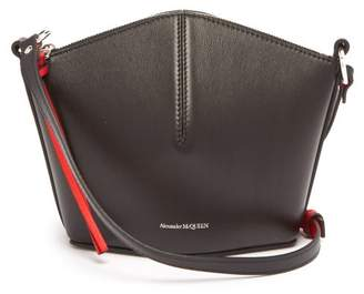 Alexander McQueen Leather Cross Body Bag - Womens - Black Red