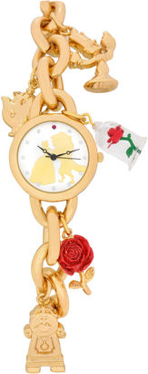 DISNEY Disney Beauty and the Beast Womens Gold Tone Bracelet Watch-Pn2075jc $40 thestylecure.com