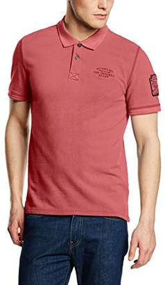 6141d55bf8e at Amazon.co.uk · Tom Tailor Men s Vintage Washed Polo 603 Shirt Polo Short  Sleeve Polo Shirt - red