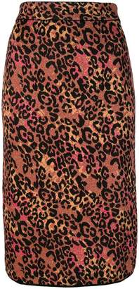 M Missoni leopard print pencil skirt