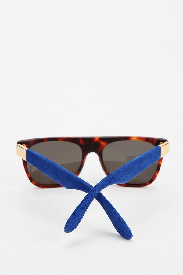 Super Blue Suede Flattop Sunglasses