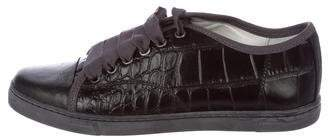 Lanvin Leather Embossed Sneakers