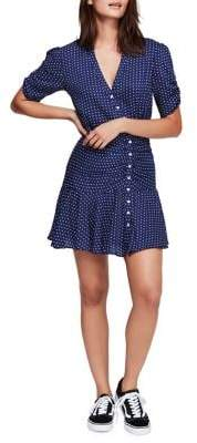 Free People Pippa Short-Sleeve Fit--Flare Dress