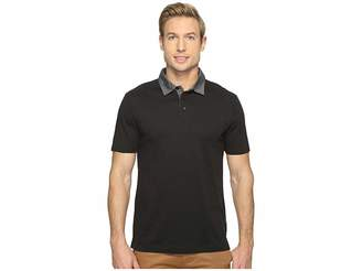 Perry Ellis Pima Chambray Polo Shirt